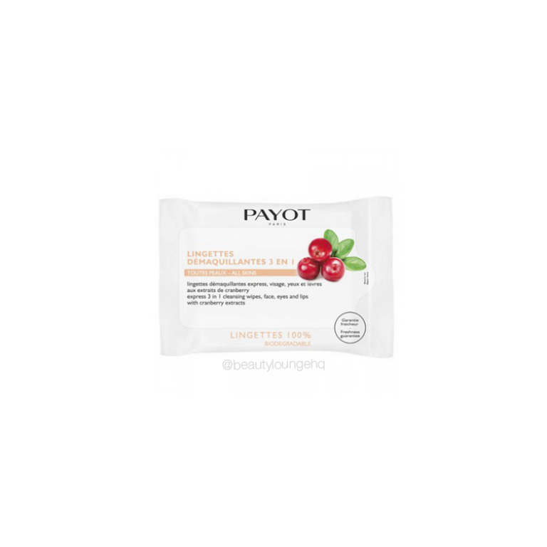 Payot Lingettes Demaquillantes 3 in 1 Cleansing Wipes x25